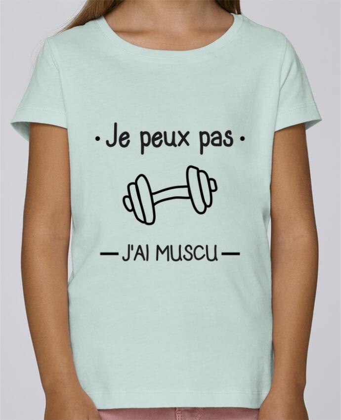 T-shirt Fille Mini Stella Draws Je peux pas j'ai muscu, musculation par Benichan