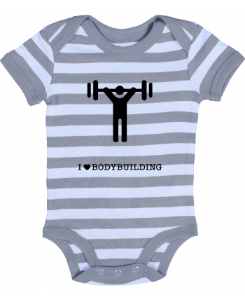 Body Bébé à Rayures I love bodybuilding - will