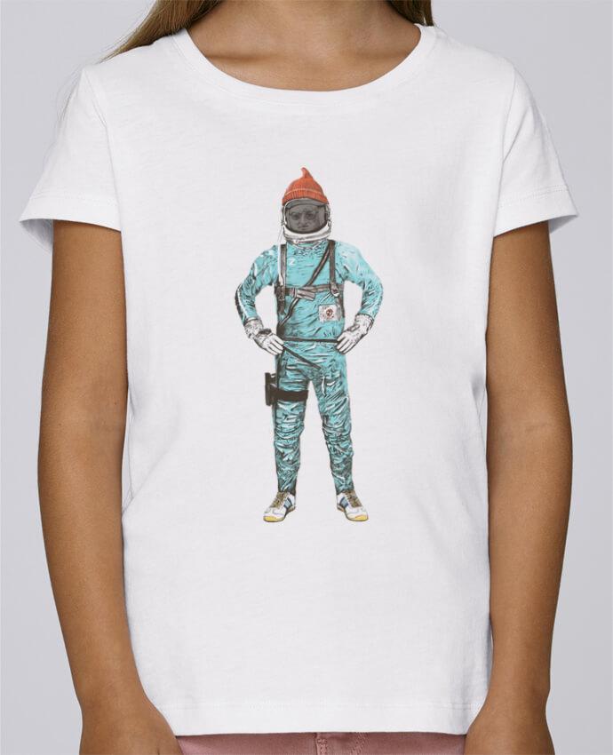 T-shirt Fille Mini Stella Draws Zissou in space par Florent Bodart