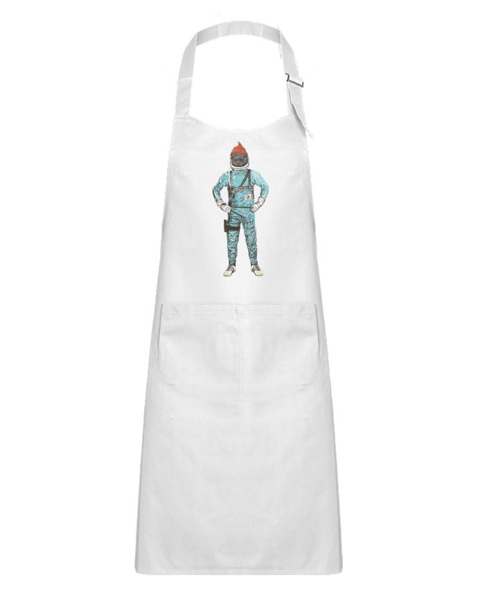Tablier Enfant avec Poche Zissou in space par Florent Bodart