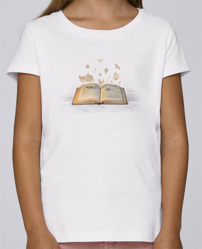 T-shirt Fille Mini Stella Draws Words take flight par Florent Bodart