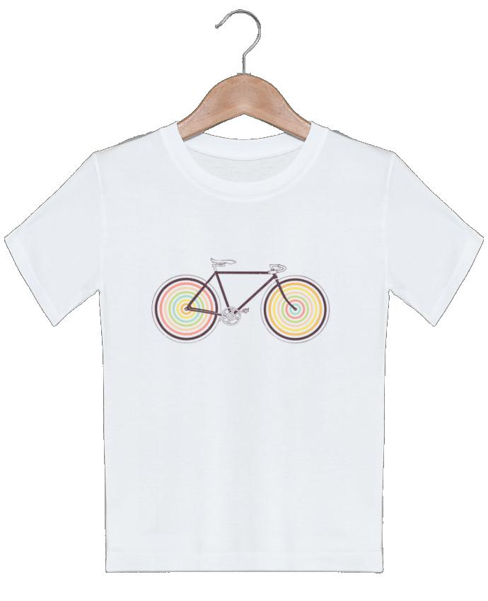 T-shirt garçon motif Velocolor Florent Bodart