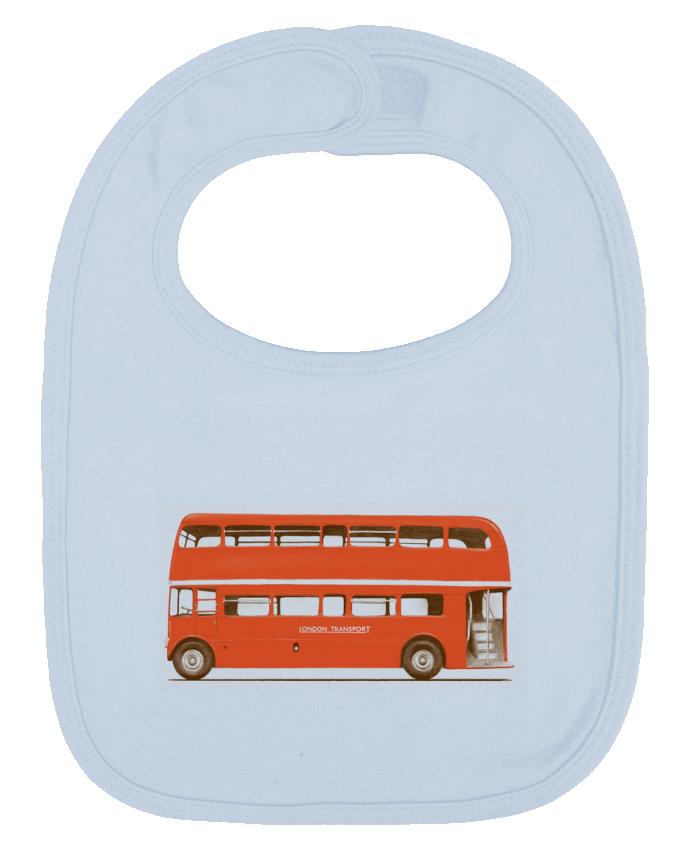 Bavoir Uni et Contrasté Red London Bus par Florent Bodart