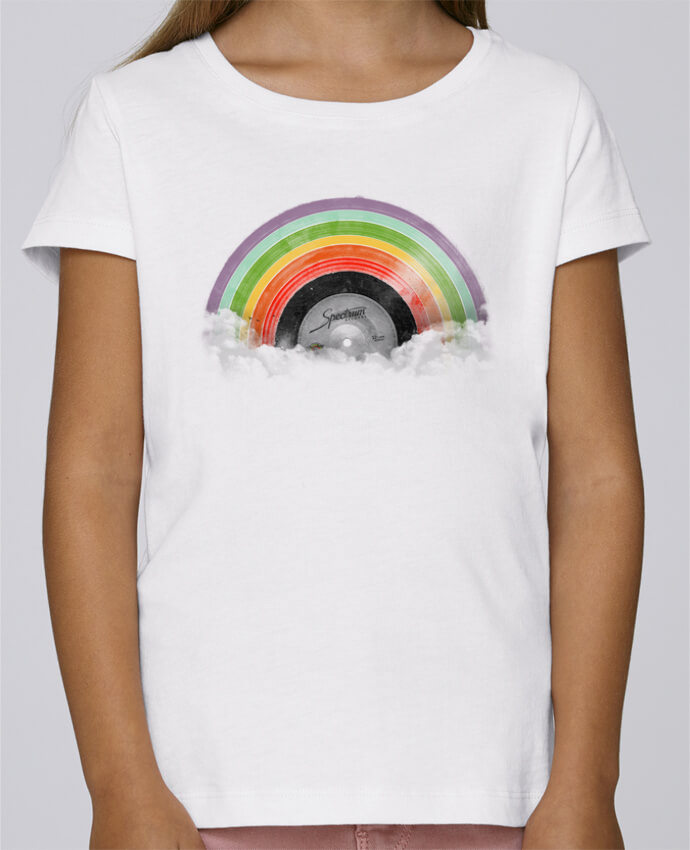 T-shirt Fille Mini Stella Draws Rainbow Classics par Florent Bodart