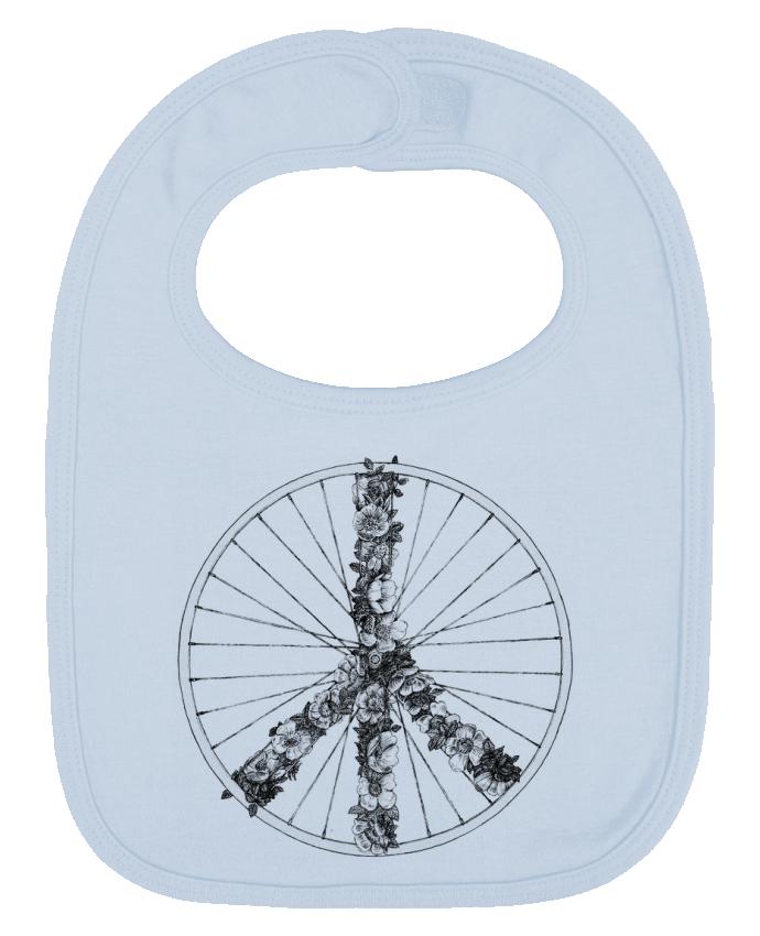 Bavoir Uni et Contrasté Peace and Bike Lines par Florent Bodart
