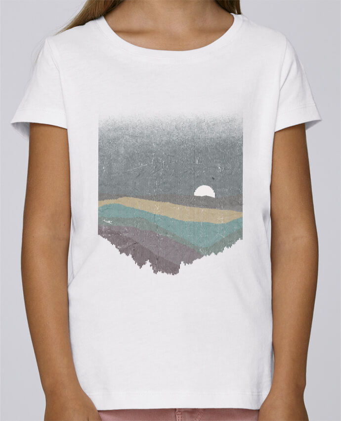 T-shirt Fille Mini Stella Draws Moonrise Color par Florent Bodart