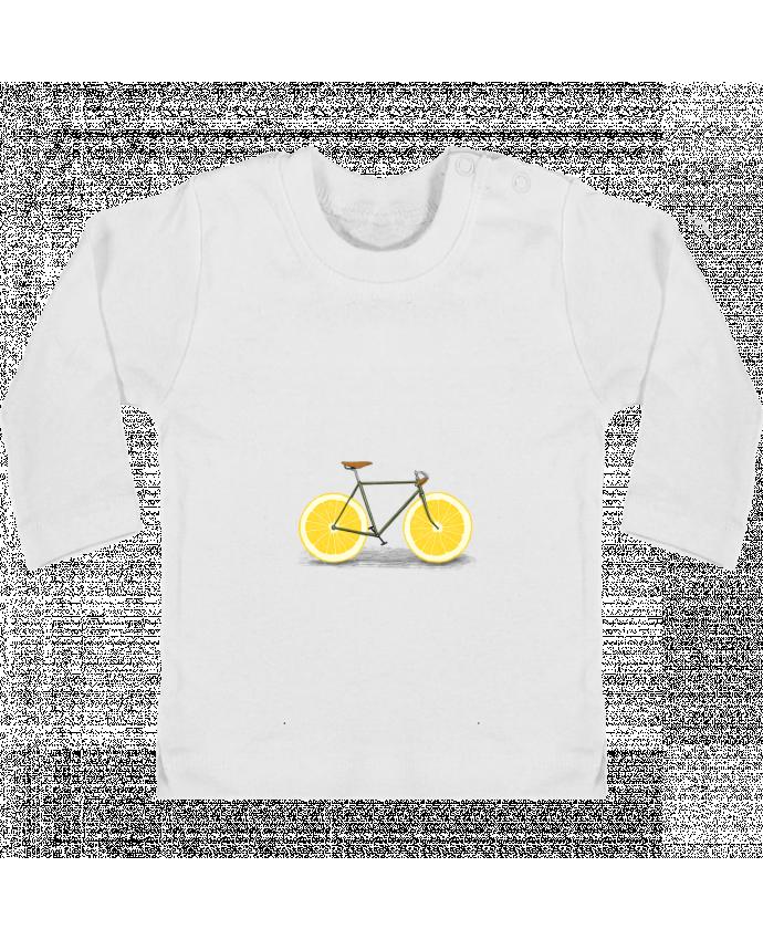 T-shirt Bébé Manches Longues Boutons Pression Zest manches longues du designer Florent Bodart