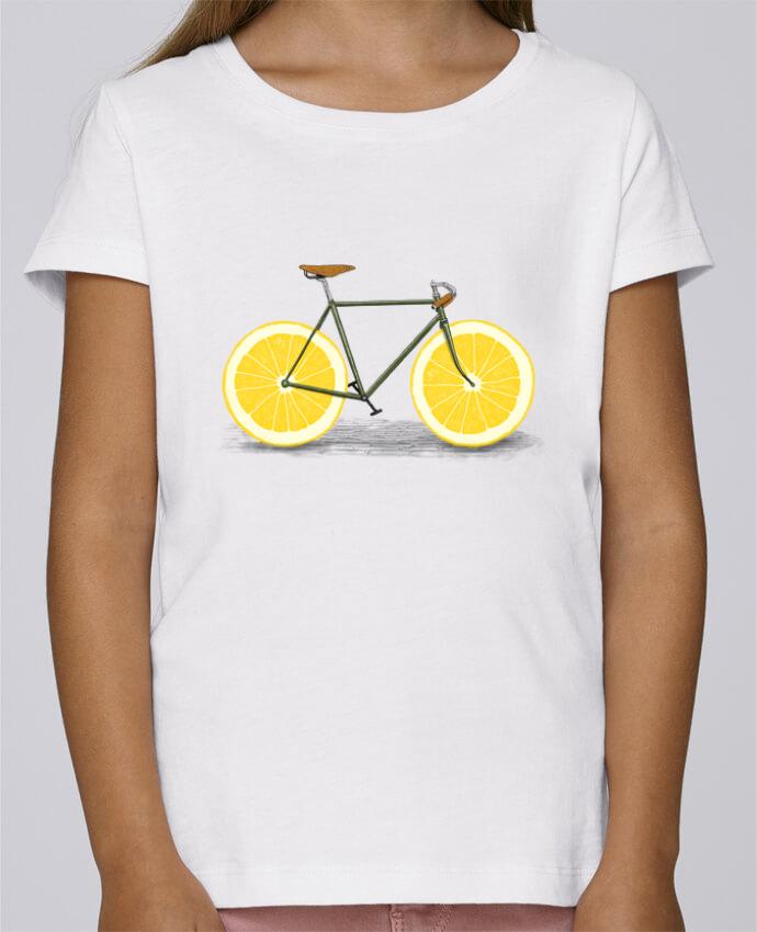 T-shirt Fille Mini Stella Draws Zest par Florent Bodart