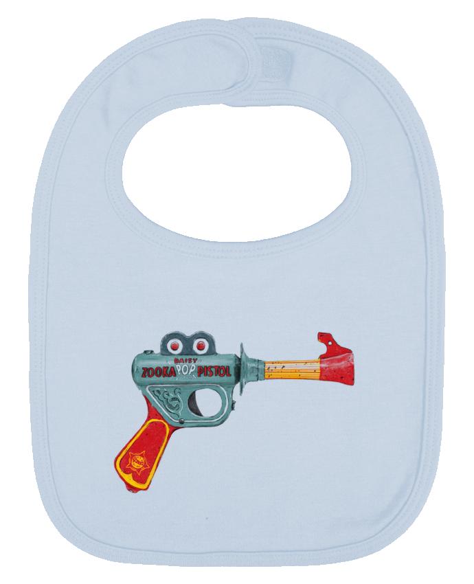 Bavoir Uni et Contrasté Gun Toy par Florent Bodart