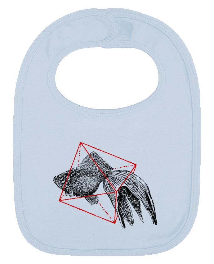 Bavoir Uni et Contrasté Fish in geometrics II par Florent Bodart