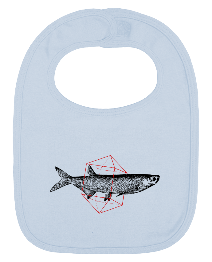 Bavoir Uni et Contrasté Fish in geometrics par Florent Bodart
