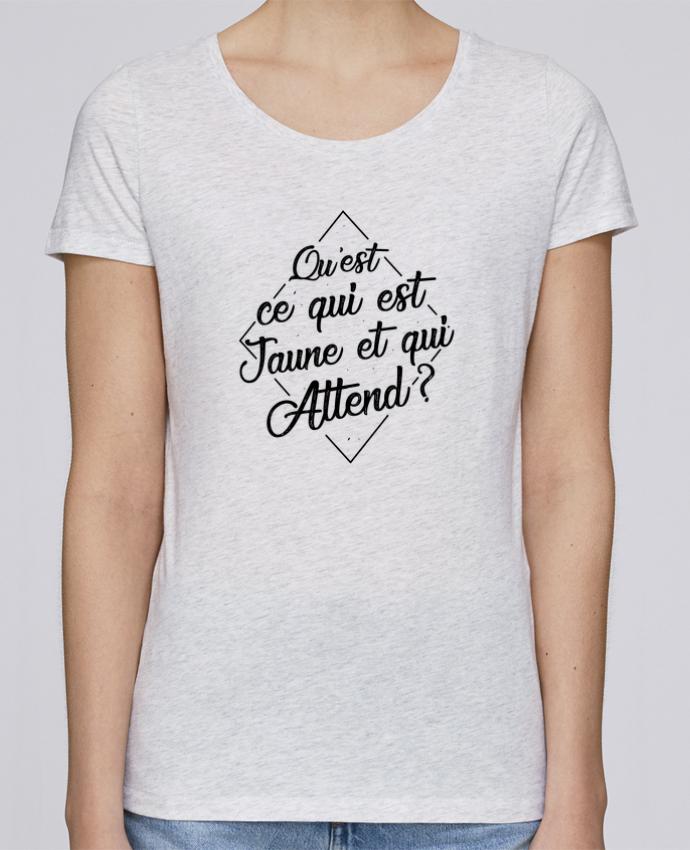 T-shirt Femme Stella Loves Qu'est ce qui est jaune et qui attend ? par tunetoo