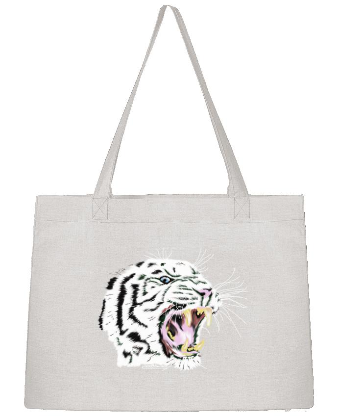 Sac Cabas Shopping Stanley Stella Tigre blanc rugissant par Cameleon