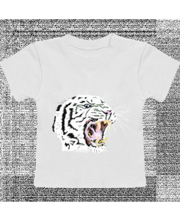 T-Shirt Bébé Manches Courtes Tigre blanc rugissant manches courtes du designer Cameleon