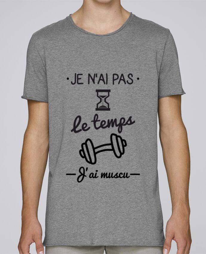 T-shirt Homme Oversized Stanley Skates Pas le temps, j'ai muscu, tee shirt musculation par Benichan