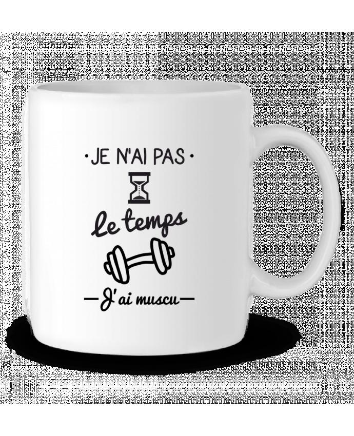 Mug en Céramique Pas le temps, j'ai muscu, tee shirt musculation par Benichan