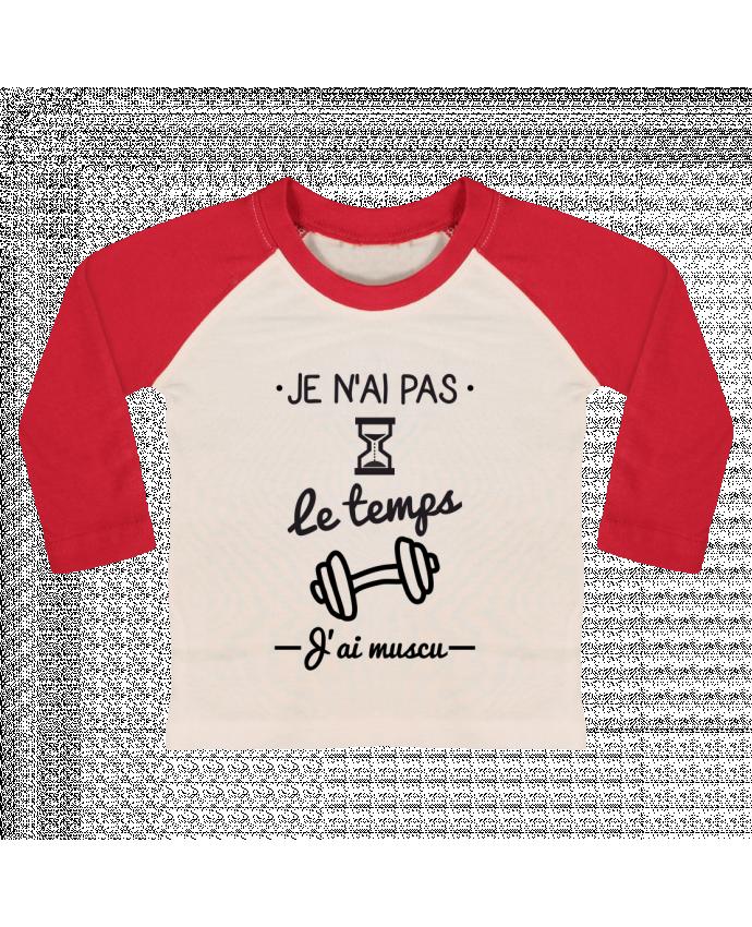 T-shirt Bébé Baseball Manches Longues Pas le temps, j'ai muscu, tee shirt musculation par Benichan