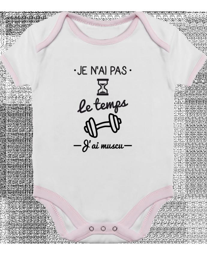 Body Bébé Contrasté Pas le temps, j'ai muscu, tee shirt musculation par Benichan