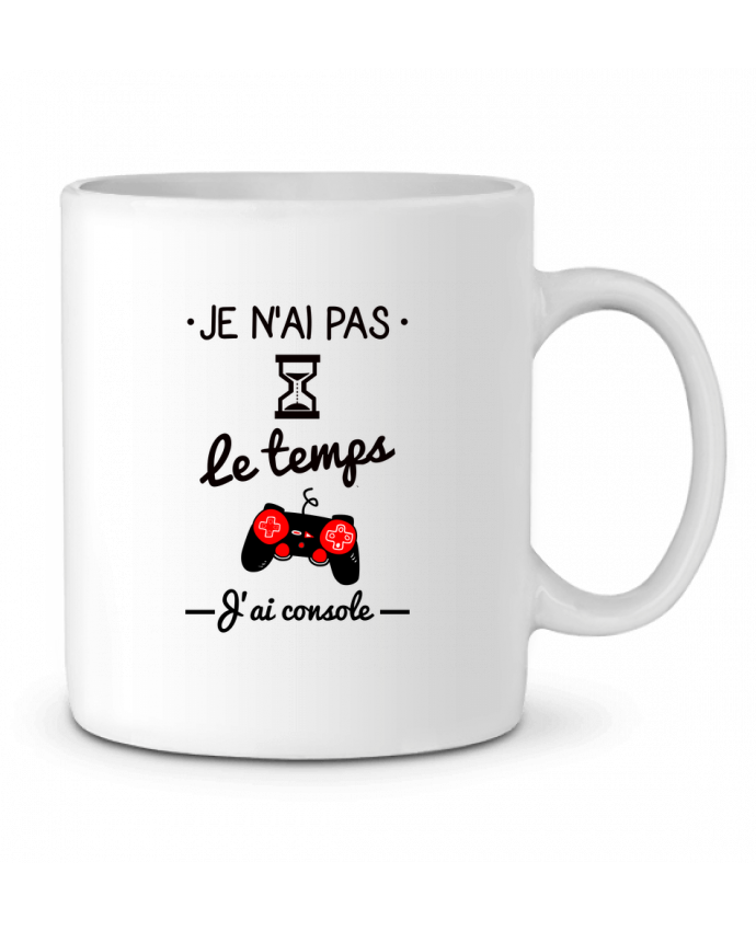 Mug en Céramique Pas le temps, j'ai console, tee shirt geek,gamer par Benichan