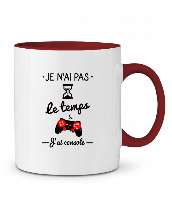 Mug en Céramique Bicolore Pas le temps, j'ai console, tee shirt geek,gamer Benichan