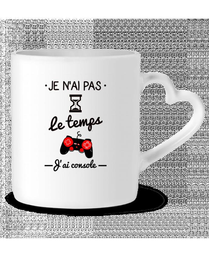 Mug Coeur Pas le temps, j'ai console, tee shirt geek,gamer par Benichan