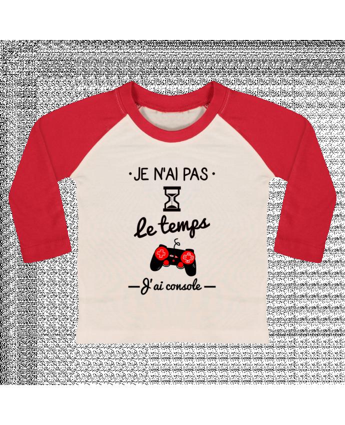 T-shirt Bébé Baseball Manches Longues Pas le temps, j'ai console, tee shirt geek,gamer par Benichan