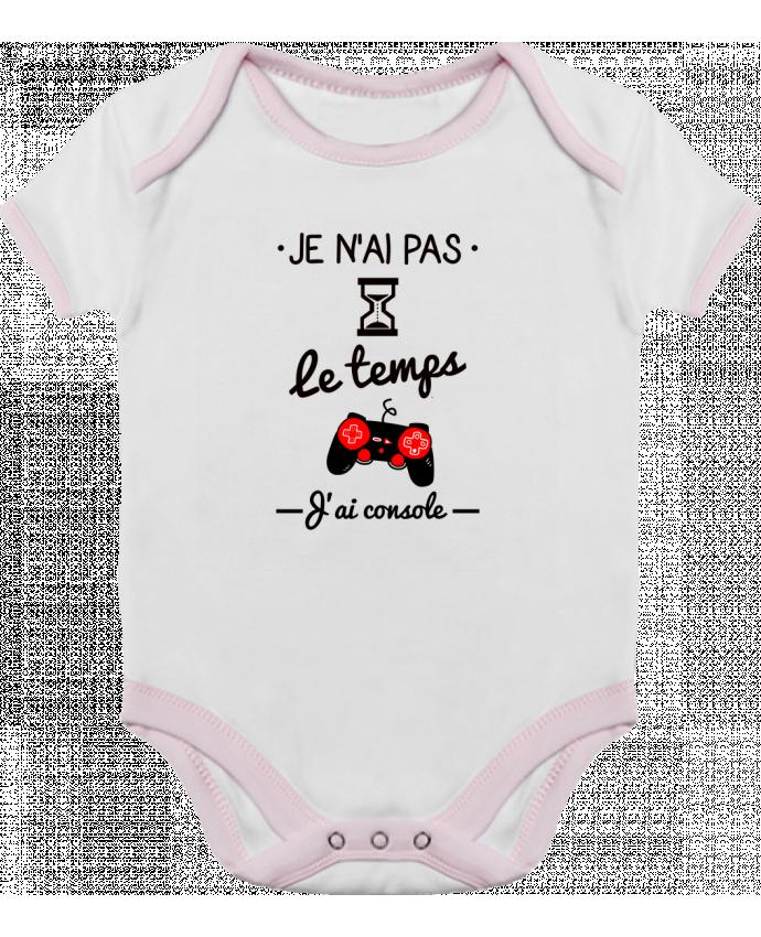 Body Bébé Contrasté Pas le temps, j'ai console, tee shirt geek,gamer par Benichan