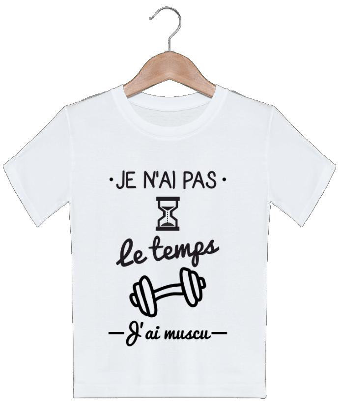 T-shirt garçon motif Pas le temps, j'ai muscu, tee shirt musculation Benichan