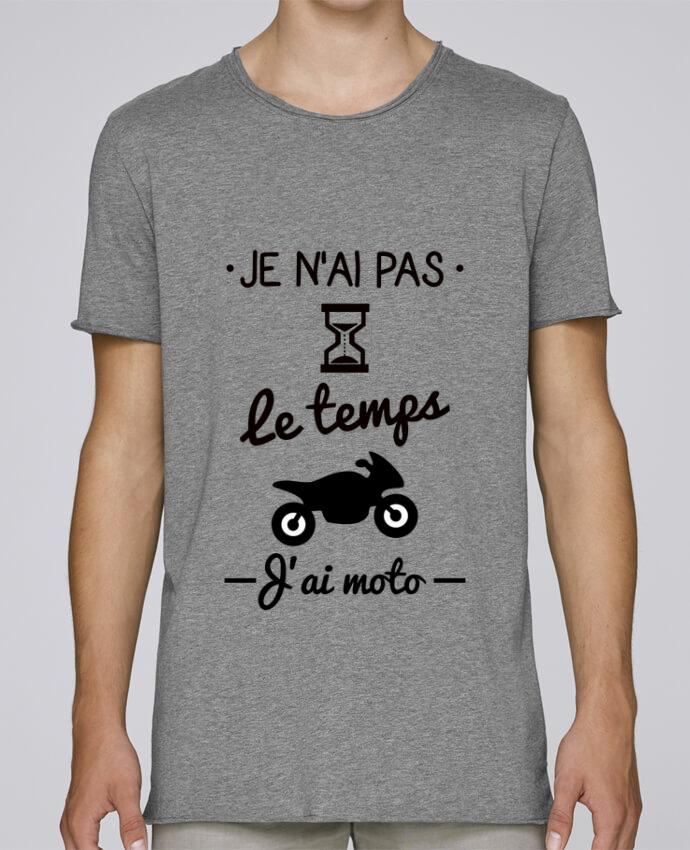 T-shirt Homme Oversized Stanley Skates Pas le temps j'ai moto, motard par Benichan