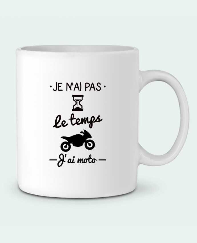 Mug en Céramique Pas le temps j'ai moto, motard par Benichan