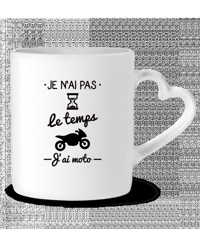 Mug Coeur Pas le temps j'ai moto, motard par Benichan