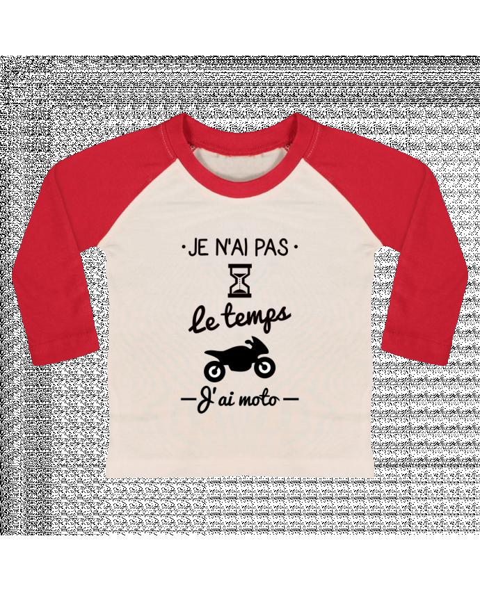 T-shirt Bébé Baseball Manches Longues Pas le temps j'ai moto, motard par Benichan