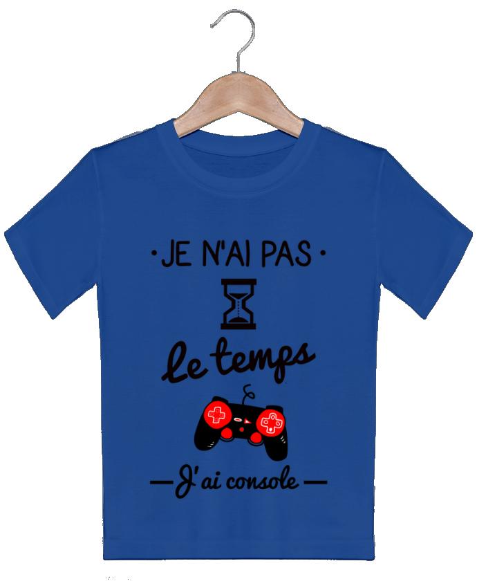 T-shirt garçon motif Pas le temps, j'ai console, tee shirt geek,gamer Benichan