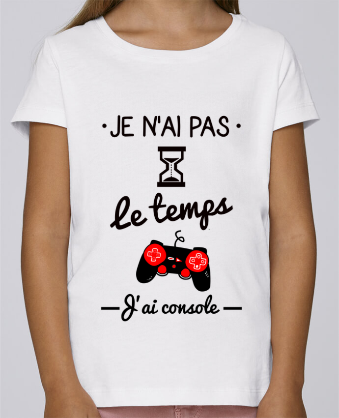 T-shirt Fille Mini Stella Draws Pas le temps, j
