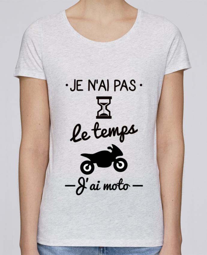 T-shirt Femme Stella Loves Pas le temps j'ai moto, motard par Benichan