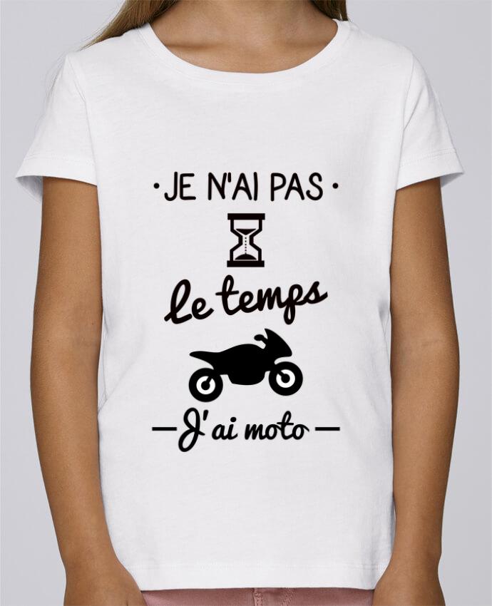 T-shirt Fille Mini Stella Draws Pas le temps j'ai moto, motard par Benichan