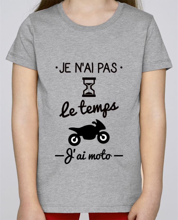 T-shirt Fille Mini Stella Draws Pas le temps j