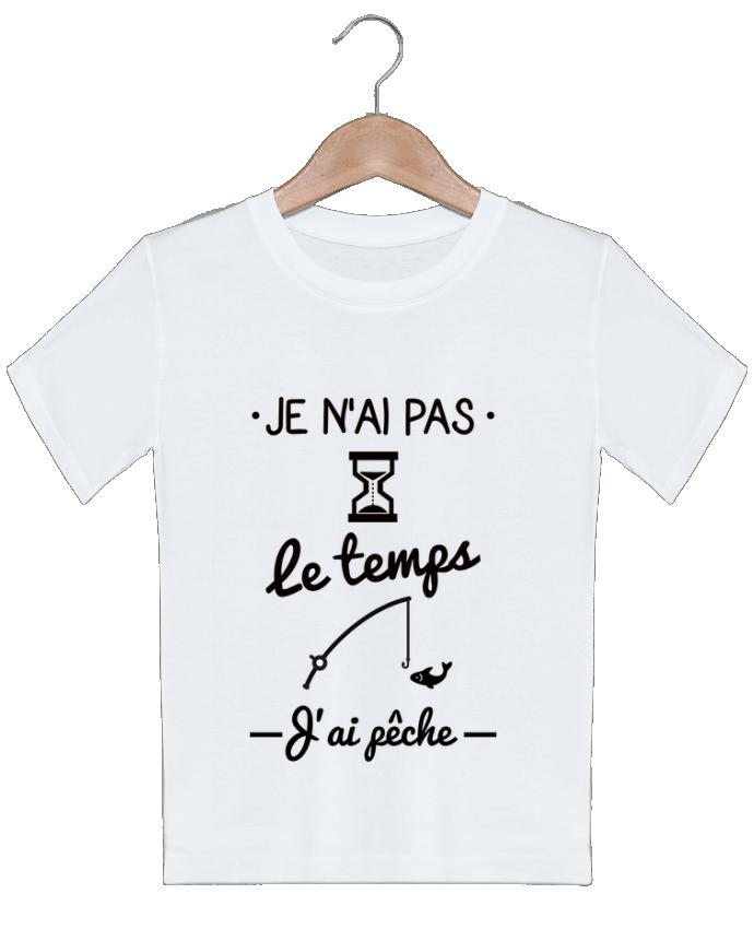 T-shirt garçon motif Pas le temps j'ai pêche Benichan