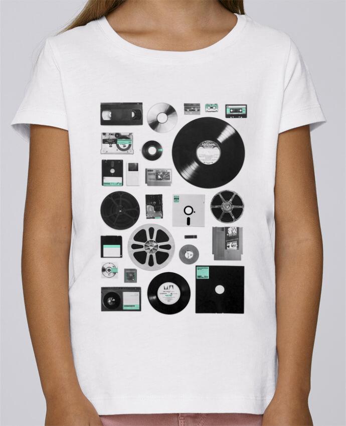 T-shirt Fille Mini Stella Draws Data par Florent Bodart