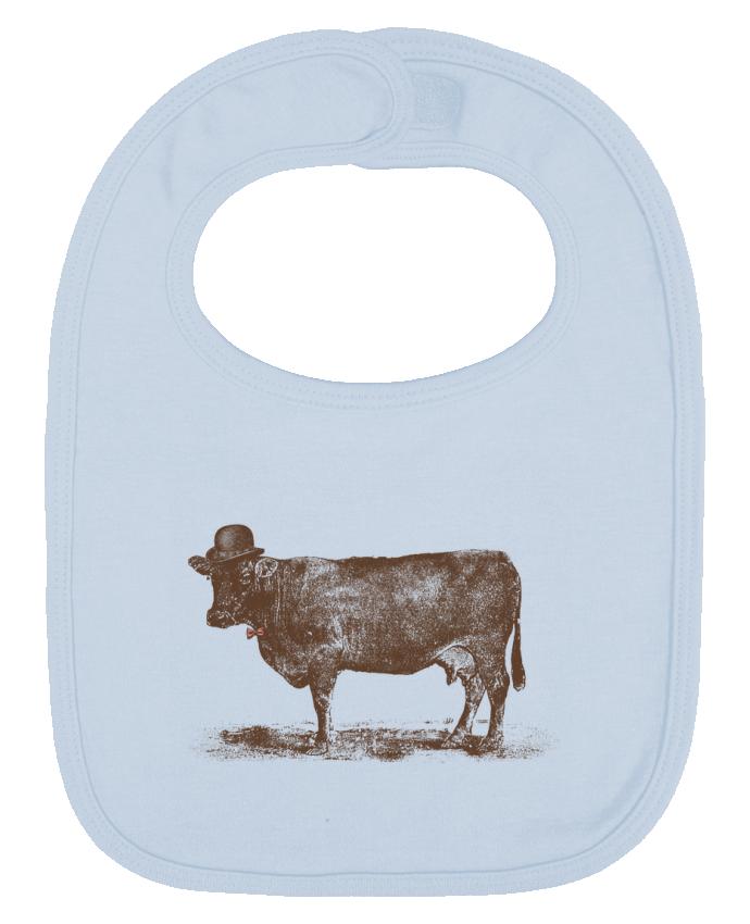 Bavoir Uni et Contrasté Cow Cow Nut par Florent Bodart