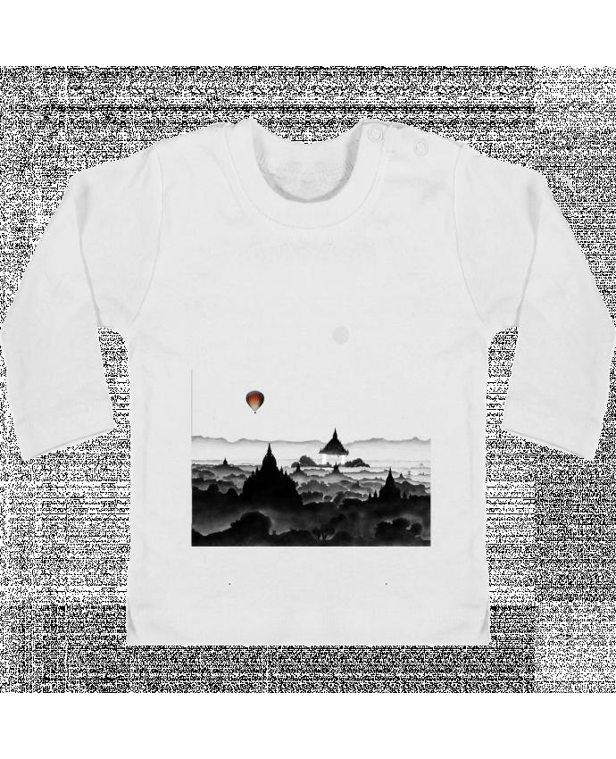 T-shirt Bébé Manches Longues Boutons Pression Aurora manches longues du designer Florent Bodart
