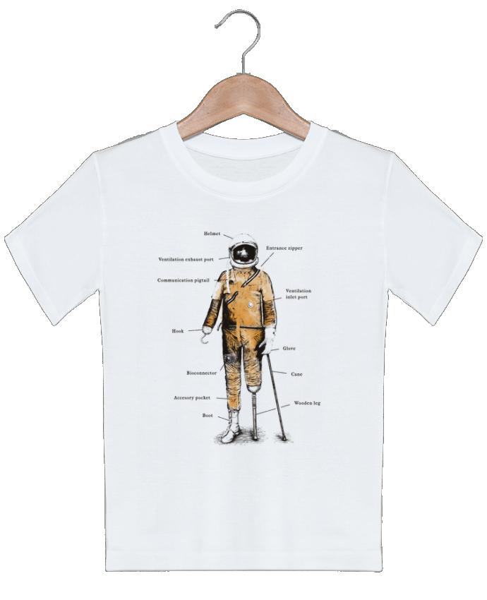 T-shirt garçon motif Astropirate with text Florent Bodart