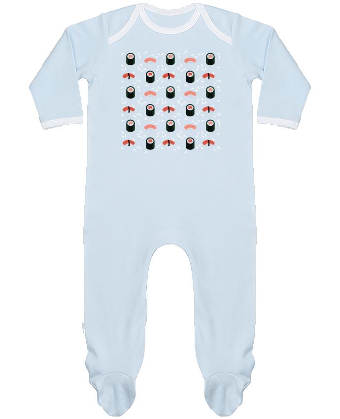 Pyjama Bébé Manches Longues Contrasté Sushi par GWEN