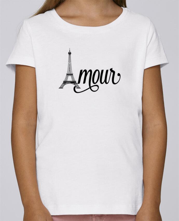 T-shirt Fille Mini Stella Draws Amour Tour Eiffel - Paris par justsayin