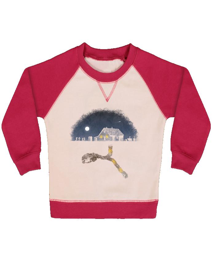 Sweat Shirt Bébé Col Rond Manches Raglan Contrastées Always Digging par Florent Bodart