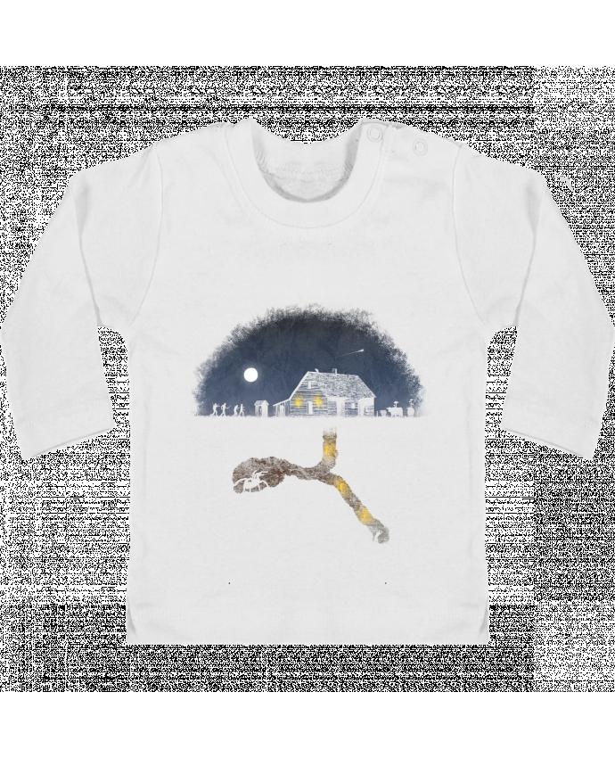 T-shirt Bébé Manches Longues Boutons Pression Always Digging manches longues du designer Florent Bodart