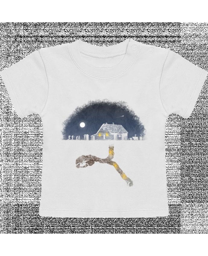 T-Shirt Bébé Manches Courtes Always Digging manches courtes du designer Florent Bodart