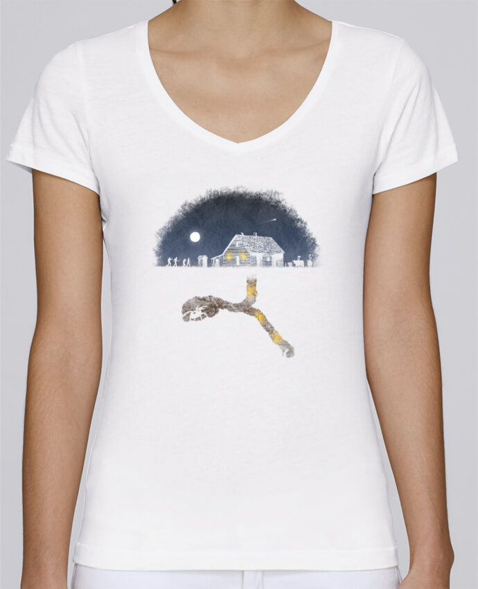 T-shirt Femme Col V Stella Chooses Always Digging par Florent Bodart