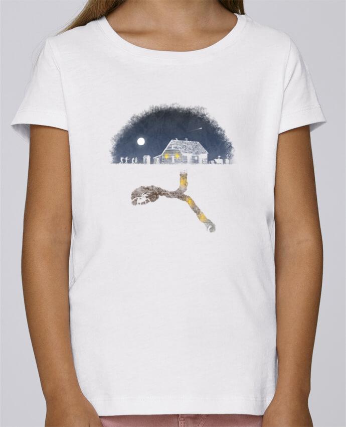 T-shirt Fille Mini Stella Draws Always Digging par Florent Bodart