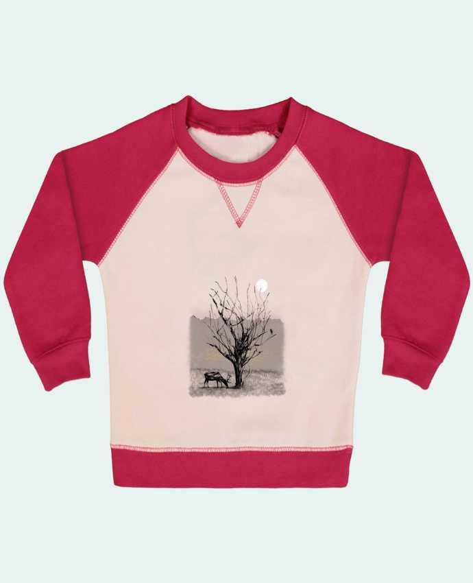 Sweat Shirt Bébé Col Rond Manches Raglan Contrastées The view par Florent Bodart